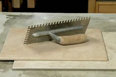 View this quick video tip demonstrating how to choose the right tile trowel for your tiling job. Laying Tile, Home Helpers, How To Lay Tile, Choose The Right, Tile Installation, Tiling, Household Tips, Home Organization, Remodeling