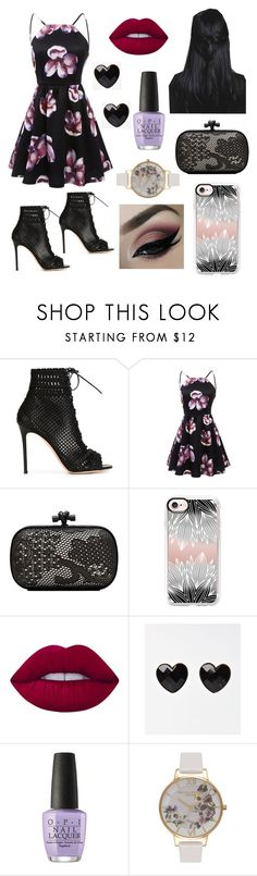 """""""Fun day"""" by fandoms-and-good-music ❤ liked on Polyvore featuring Gianvito Rossi, Bottega Veneta, Casetify, Lime Crime, OPI and Olivia Burton"""