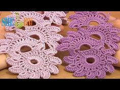 ▶ Crochet Floral Lace Tutorial 12 Beautiful Crochet Lace Patterns - YouTube