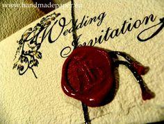 Gothic wax seal wedding invitation look. Still think I prefer the Ouija invites