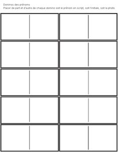 un jeu de domino pour associer prénom et initiale, prénom et photo...