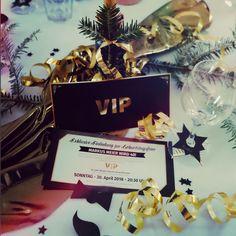 Die goldene VIP Karte passend auch für Ihre Feier!