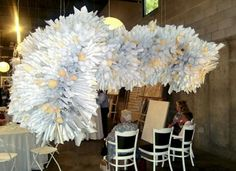 DIY Paper Cone Art Installation