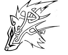Celtic Tribal Wolf by ~DarkLordRinku Celtic Wolf Tattoo, Tribal Wolf Tattoo, Viking Tattoos, Tribal Tattoos, Celtic Tattoos, Wolf Tattoo Design, Wolf Design, Tattoo Designs, Lobo Tribal