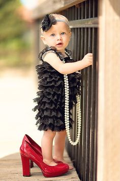 Black Lace Petti Romper Baby Romper, Pettiromper, Smash Cake Birthday Outfit, Vintage Clothing on Etsy, $17.95