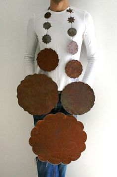 Edgar Mosa - 'Di Indigetes' - rusted steel