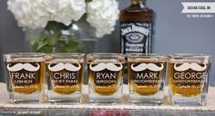 Personalized Groomsman Gift - Custom Square Shot Glass  - Personalized Shot Glass - Personalized Wedding Favor by LetsTieTheKnot