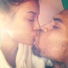 Chris Brown Kisses Karrueche Tran Before Heading to Rehab - LOVE