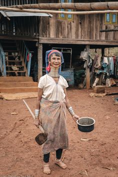 He now specialises in travel photography and hops from place to place trying to capture the lives of local people across the world, like this woman pictured above