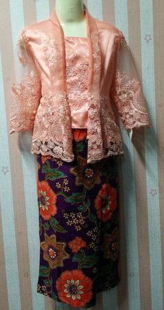 Baju Kebaya Lace Budak Peach - 3yr e9b686d4ba