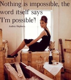 Audrey Hepburn. I like to tell people I was named after her but unfortunately my mom just liked the name Audrey.