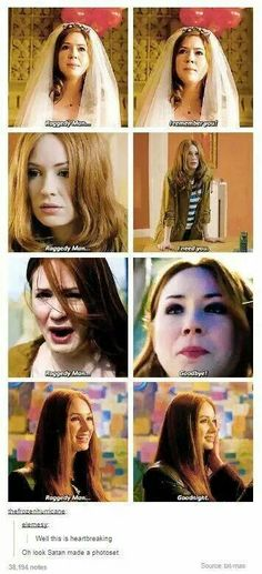 Amy Pond and The 11thDoctor. He always be her 'Raggedy Man' <3
