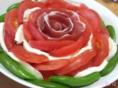 母の日、パーティーに、お花トマトサラダの画像