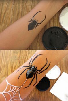 How to paint an easy spider in 10 simple steps. #HowtoFacePaint