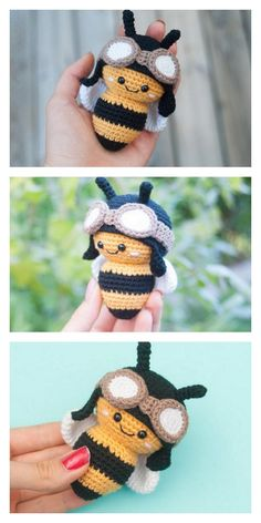 Amigurumi Little Bee Free Pattern – Free Amigurumi Patterns Crochet Mignon, Crochet Bee, Crochet Patterns Amigurumi, Cute Crochet, Crochet Crafts, Crochet Dolls, Crochet Projects, Knitting Patterns, Amigurumi Doll