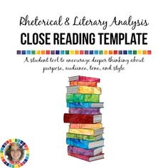 Close Reading Template for Rhetorical and Literary Analysis  Two graphic organizers to guide students through text analysis using close reading strategies!  From The Rhetor's Toolbox https://www.teacherspayteachers.com/Store/The-Rhetors-Toolbox