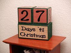 Housewife Eclectic: Tutorial- Block Christmas Advent Calendar
