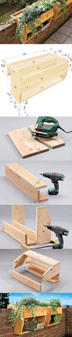 DIY Railings Shelves Pots DIY Projects | UsefulDIY.com Follow us on Facebook ==> https://www.facebook.com/UsefulDiy