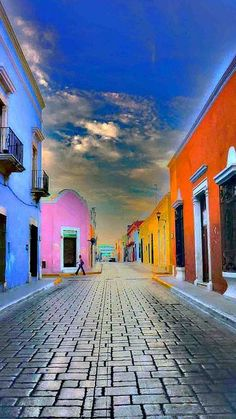 Travel Inspiration for Mexico - Campeche in the Yucatan of Mexico.  Gorgeous colors!