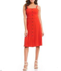 8aa17cecfeb Gianni Bini Jenny Sleeveless Square Neckline Midi Dress