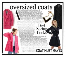 """oversized coat"" by naomi-logon ❤ liked on Polyvore featuring H&M, J.Crew, Michael Kors, ASOS and Porsche"