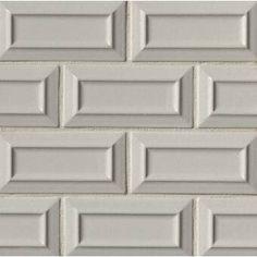 "Ivy Hill Tile Newport Polished 2"" x 10"" Ceramic Subway Tile & Reviews Ceramic Mosaic Tile, Ceramic Subway Tile, Stone Mosaic Tile, Mosaic Glass, Subway Tiles, Subway Tile Colors, Beveled Subway Tile, Tiles Online, Wood Look Tile"