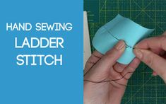 Ladder Stitch Ladder Stitch, Sewing Stitches, Fabric Scraps, Hand Sewing, Sewing Ideas, Sewing By Hand, Stitches, Fabric Remnants, Sewing Coat