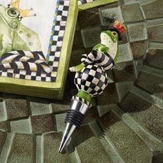 MacKenzie-Childs Mr Jingles Frog Bottle Stopper