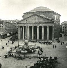 Italy Roma Pantheon Old NPG Stereo Photo 1900