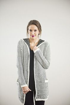 hooded cardigan - piper and scoot