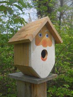 Birdhouse. whimsical, old man bird house