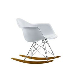 White Rocker Chair Eames Style RAR - Onske  - 1