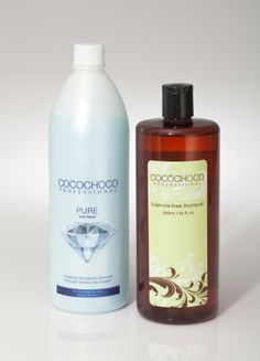 COCOCHOCO Pure Keratin Hair Treatment (34oz)   Sulphate Free Shampoo 34oz / 1000ml The original CocoChoco Brazilian Keratin Treatment. High quality product - for professional use only.. Keratin Hair Treatment straightens the hair without damaging or changing its texture. 1000ml bottle can last up to 14 treatments.. *High quality product - for professional use only..