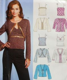 Bolero and Camisole Sewing Pattern Sizes UNCUT New Look 6535 Envelope has some wear and creasing Buyer to pay First Class shipping via USPS. New Look Patterns, Sewing Patterns, Camisole, Bell Sleeve Top, Trending Outfits, Handmade Gifts, Etsy, Tops, Women