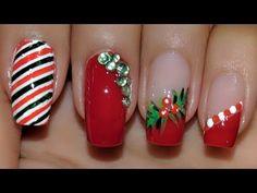 me - Uñas Coffing Maquillaje Peinados Tutoriales de cabello Cute Christmas Nails, Xmas Nails, Christmas Nail Designs, Best Thanksgiving Recipes, Pearl Nails, Nail Tutorials, Manicure And Pedicure, Cute Nails, Nail Art Designs