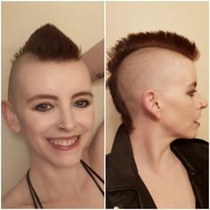 Girl Mohawk, Punk Mohawk, Mohawk Hairstyles, Haircuts, Bald Girl, Mohawks, Undercut, Short Hair Styles, Actresses