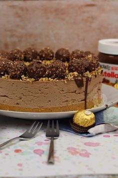 No-Bake Ferrero Rocher and Nutella Cheesecake! - Jane's Patisserie