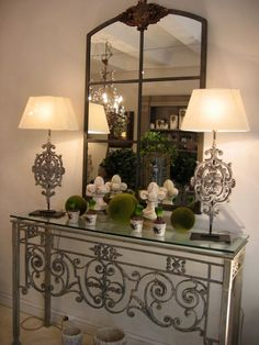 Console, mirroir, lampe, chandelier, objets de décoration Imaginaire Aix en Provence Avignon Isle sur la Sorgue