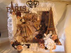 Parisian Shadow Box from Gina's Designs Lasercuts