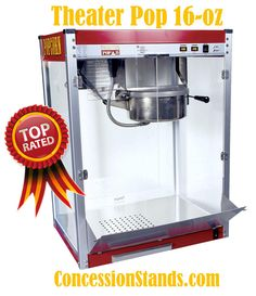 The Theater Pop 16oz popcorn machine operates on a 30 amp 120 Volt circuit (NEMA Style 5-30R Outlet). This commercial machine is ideal to use in any environment that needs lots of popcorn. Pops 295 one-ounce servings per hour.