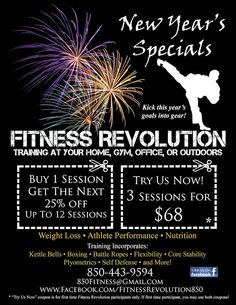 New Years Revolution Fitness Offer for private personal training in Tallahassee