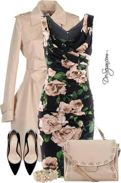 Beige roses cocktail dress perfect for interview! #pageantassociates #pageant