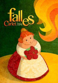 1er premio Concurso de Carteles de Fallas Carlet 2014