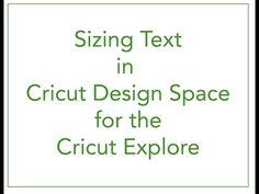 Sizing Text in Cricut Design Space - YouTube