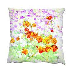 Hint of poppy Cushion by mindgoop at zippi.co.uk