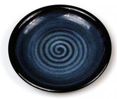 Assiette japonaise en grès. Les abysses, l'océan... <3