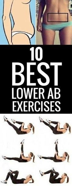 10 best exercises to work your lower abs.