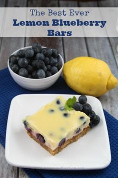 The Best Lemon Blueberry Bars Recipe EVER