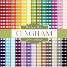 Gingham Digital Paper DP141 - Digital Paper Shop - 1
