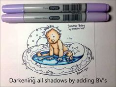 A great video tutorial on Colouring water with Copic Makers by the wonderful Mandi-Lee!